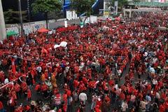 BANGKOK - 19 NOVEMBRE : Protestation rouge de chemises - Thaïlande Photo stock