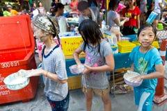 BANGKOK - 2012 13 APRIL: Het Festival van Songkran Stock Foto