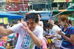 BANGKOK - 2012 13 APRIL: Het Festival van Songkran Stock Afbeelding