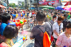 BANGKOK - 2012 APRIL 13: Songkran Festival Royalty Free Stock Photo