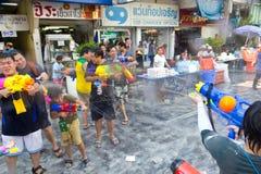 BANGKOK - 2012 APRIL 13: Songkran Festival Stock Photos