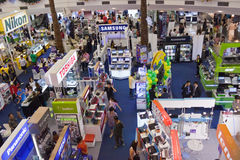 BANGKOK - 23 DEC: Elektronisch records.on Dec van de tentoonstelling 23, 2012 I Royalty-vrije Stock Afbeeldingen