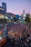 Bangkok-Abschaltung am 9. Februar 2014 lizenzfreie stockfotos