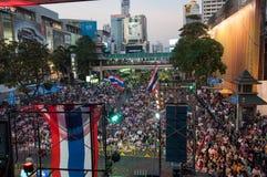 Bangkok-Abschaltung am 9. Februar 2014 lizenzfreies stockbild