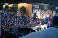 Bangkok-Abschaltung am 9. Februar 2014 lizenzfreies stockfoto