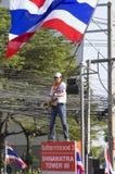 Bangkok-Abschaltung: Am 14. Januar 2014 Lizenzfreies Stockbild