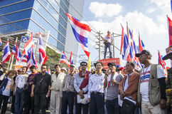 Bangkok-Abschaltung: Am 14. Januar 2014 Lizenzfreies Stockfoto