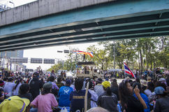 Bangkok-Abschaltung: Am 13. Januar 2014 Lizenzfreies Stockbild