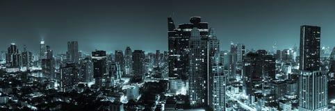 Bangkok aerial skyline view at night in Thailand. Bangkok aerial skyline view at night - Thailand Stock Photos