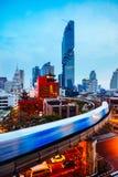 Bangkok affärsområde royaltyfria bilder