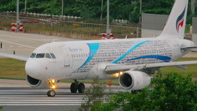 Bangkok Air Airbus 320 taxiing stock video