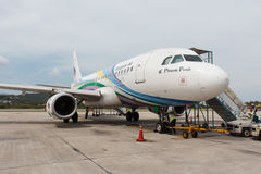 Bangkok Air aircraft is preparing for boarding and flight Stock Image