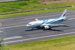 Bangkok air departed at phuket airport Royalty Free Stock Image