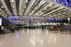 Bangkok airport. Wide angle shot Stock Photo