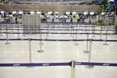 Bangkok airport. BANGKOK - JANUARY 17. Long queuing lines in Bangkok airport on January 17, 2012. Suvarnabhumi airport is world's 4th largest single-building Royalty Free Stock Images