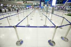 Bangkok airport. BANGKOK - JANUARY 17. Long queuing lines in Bangkok airport on January 17, 2012. Suvarnabhumi airport is world's 4th largest single-building Royalty Free Stock Image