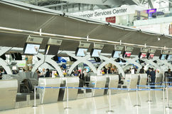 Bangkok airport check-in counter Stock Photography