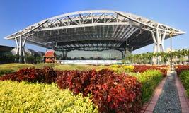 Bangkok Airport Garden. A wide angle image of Bangkok airport and it's garden royalty free stock photography