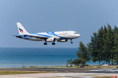 Bangkok airway aircraft landind at phuket Stock Photo