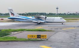Bangkok Airways Airplane in New Bangkok International Airport Suvarnabhumi Stock Photography