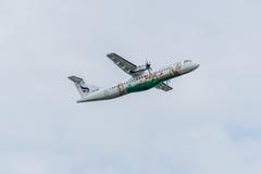 Bangkok Airways plane take off in the morning royalty free stock photos