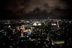 Bangkok alla notte immagine stock