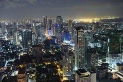 Bangkok alla notte Fotografie Stock Libere da Diritti