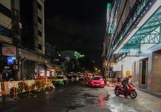 Bangkok alla notte, 2013 Fotografia Stock