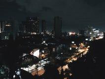 Bangkok alla notte Fotografia Stock