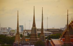 Bangkok ancient roof Royalty Free Stock Photos
