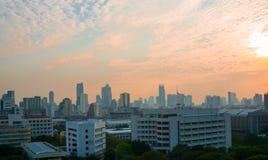 Bangkok-Ansicht am Abend Lizenzfreies Stockbild