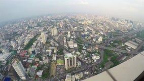 Bangkok-Ansicht von der Aussichtsplattform stock footage