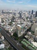 Bangkok-Ansicht von der Spitze stockbild