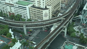 Bangkok-Antennen-Verkehr stock video footage