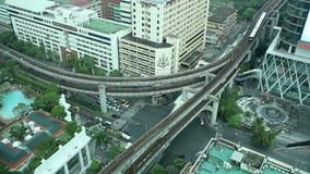 Bangkok-Antennen-Verkehr stock footage