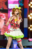 BANGKOK - 30 AOÛT : Tanaka Reina (chef de chant) de LoVendor Photos libres de droits