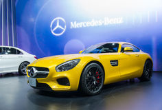 BANGKOK - APRIL 3 : Benz GTS on the stage show in The 36 th Bang Stock Photography