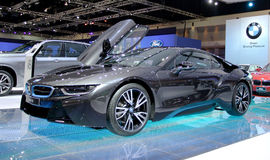 Bangkok - 2. April: Innovationsauto BMW-Reihe I8 Lizenzfreie Stockfotos