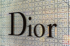 BANGKOK - APRIL 4   The sign of Dior at Dior store on Apr 4, 2014 in Suvarnabhumi Bangkok, Thailand  It is a French company contro Stock Photography