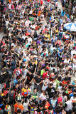 Bangkok April 15:Songkran Festival at Silom Road, Bangkok, is an. Other beat place to celebrate Thai tradition New Year for thais and foreigners on Silom Bangkok royalty free stock images