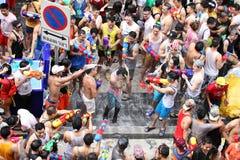 Bangkok April 15:Songkran Festival at Silom Road, Bangkok, is an Royalty Free Stock Images