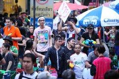 Bangkok April 15:Songkran Festival at Silom Road, Bangkok, is an Stock Image