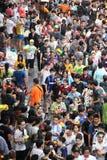 Bangkok am 15. April: Songkran-Festival an Silom-Straße, Bangkok, ist Lizenzfreies Stockfoto