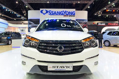 BANGKOK - APRIL 3 : Ssangyong new stavic on the stage show in The 36 th Bangkok Stock Image