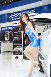 BANGKOK - APRIL 3 : Unidentified model with ALPINE on display at Royalty Free Stock Photography