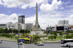 BANGKOK -APRIL 16: View on the Victory Monument the big military Royalty Free Stock Photography