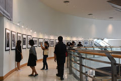 The Bangkok Art and Culture Centre BACC, NOV 14, 2016: :. `In Remembrance of His Majesty King Bhumibol Adulyadej` Photography Exhibition. BACC is a new mid-town Royalty Free Stock Photography