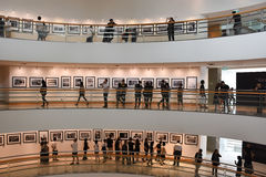 The Bangkok Art and Culture Centre BACC, NOV 14, 2016: :. `In Remembrance of His Majesty King Bhumibol Adulyadej` Photography Exhibition. BACC is a new mid-town Stock Photography