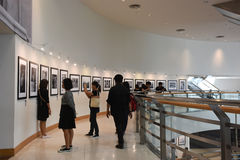 The Bangkok Art and Culture Centre BACC, NOV 14, 2016:. `In Remembrance of His Majesty King Bhumibol Adulyadej` Photography Exhibition. BACC is a new mid-town Stock Image