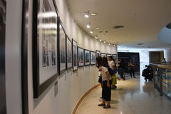 The Bangkok Art and Culture Centre BACC, NOV 14, 2016:. `In Remembrance of His Majesty King Bhumibol Adulyadej` Photography Exhibition. BACC is a new mid-town Stock Photo